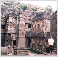 These are Ellora caves outside Aurangabad