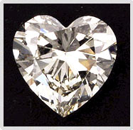 Diamond in Heart Shape