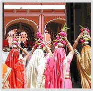 Ladies of Royal Family Going towards Festival Place