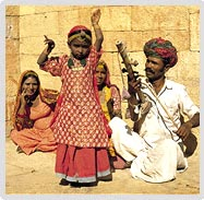 A Family Present the Culture of Rajasthan