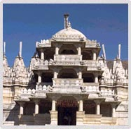 Jain temple at Ranakpur in Rajasthan
